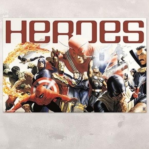 Wall Art Marvel 8th Super Heroes Kids Room Decor Avengers Poshmark